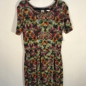 Lularoe Amelia dress Floral print size 2XL